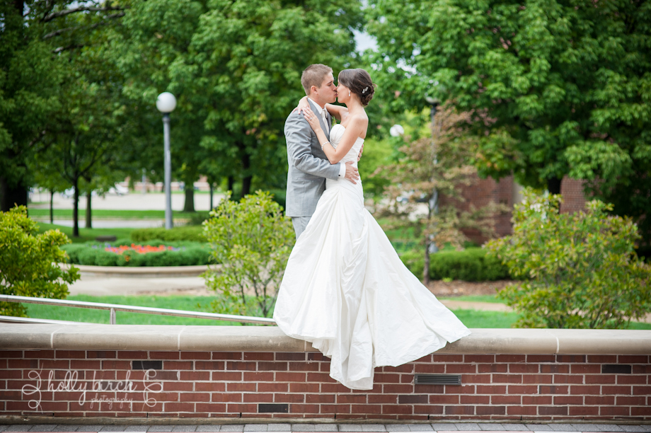 University of Illinois wedding portrait