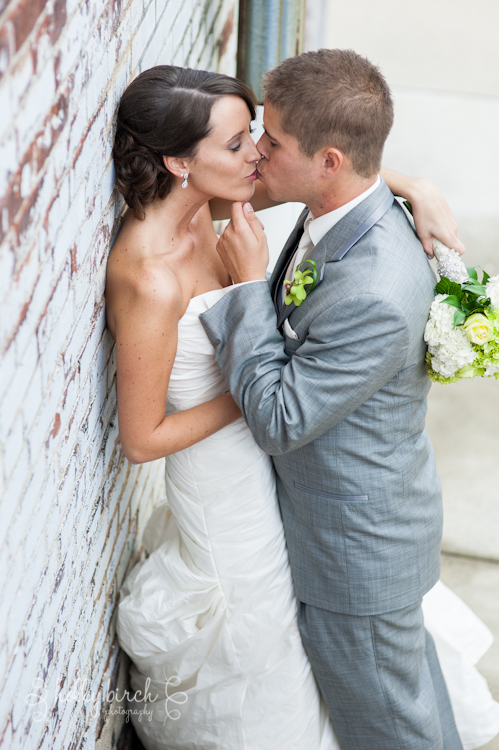 bride groom portrait kiss