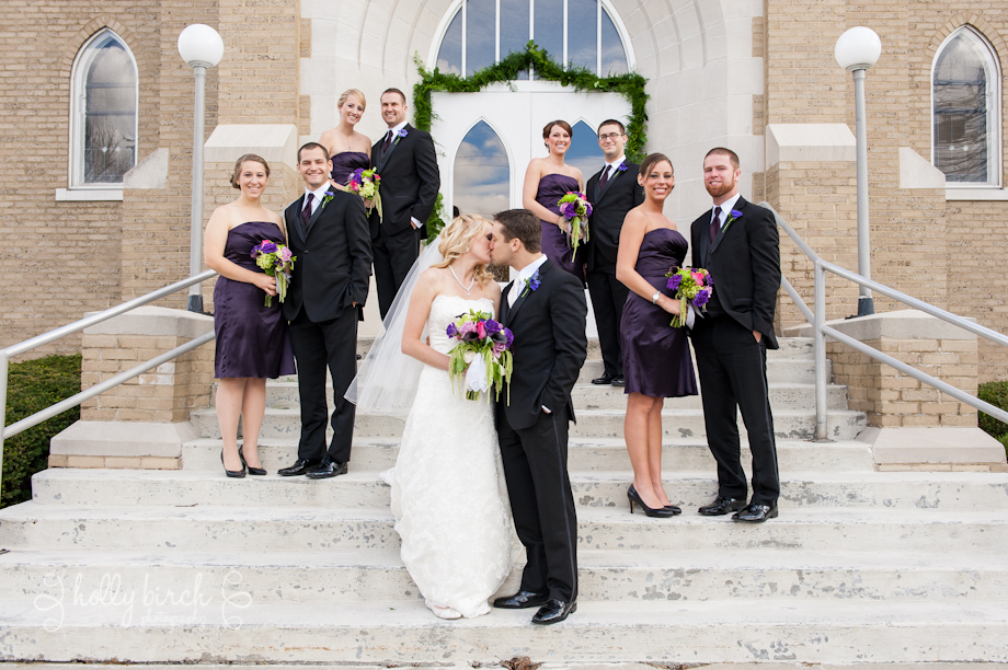 Flatville Church wedding party