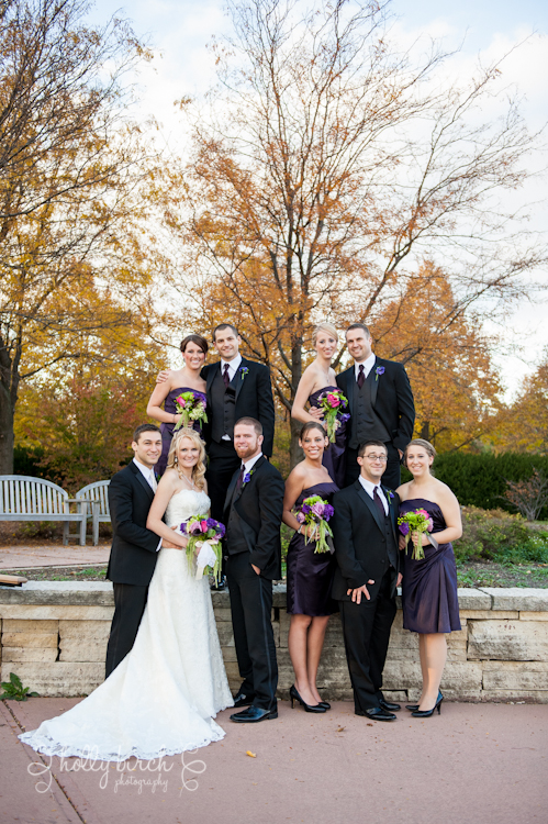wedding party at Arboretum
