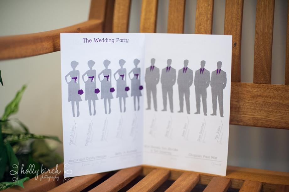 wedding program wedding party