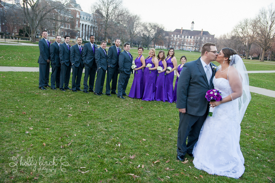 wedding party on Quad
