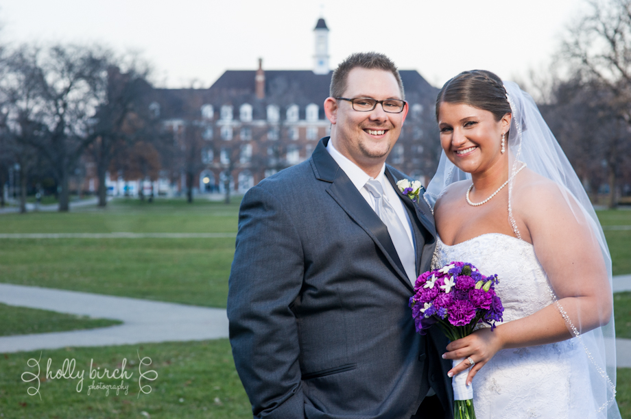 bride and groom with Illini Union