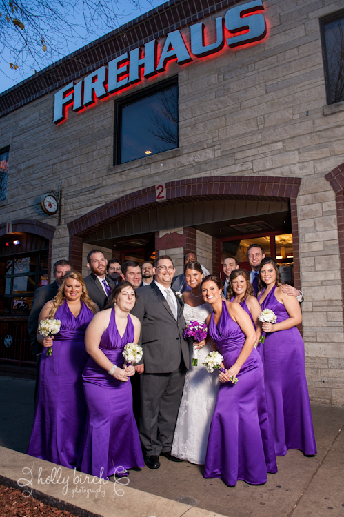 wedding party at Firehaus