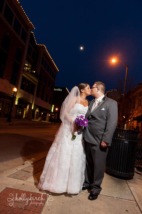 winter wedding photos after dark