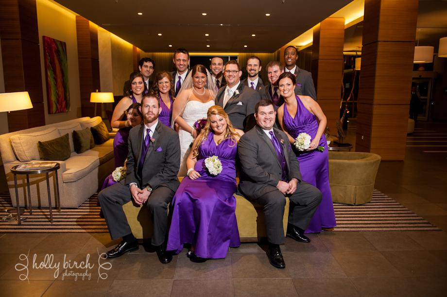 wedding party iHotel lobby