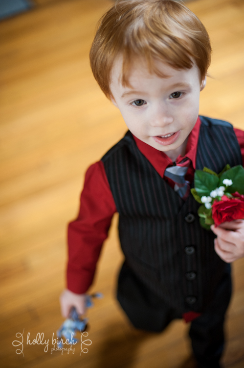 ring bearer and grandson of groom