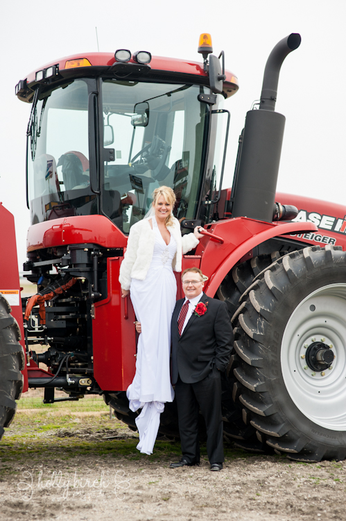 Case IH wedding image