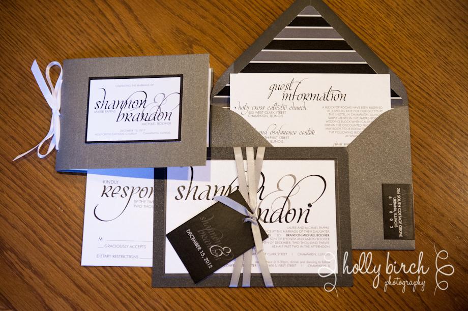 gray, black & white wedding print suite