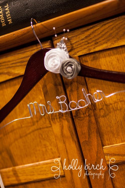 custom bridal dress hanger
