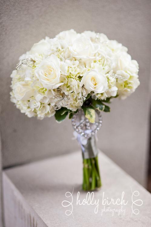 Abbott's Florist white bouquet