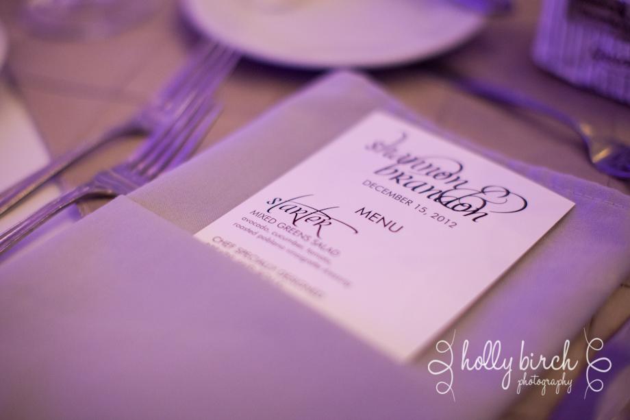 table setting menu