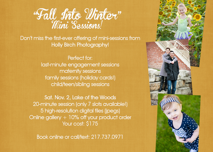 Fall Mini Session photography announcement