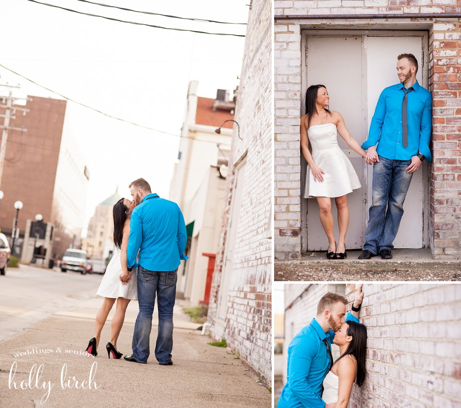 alley engagement photography