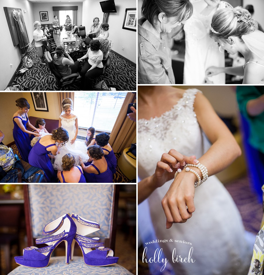 purple shoes wedding accessories getting ready