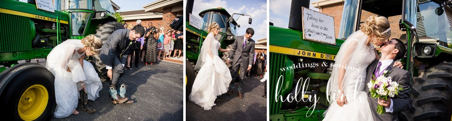 John Deere tractor getaway