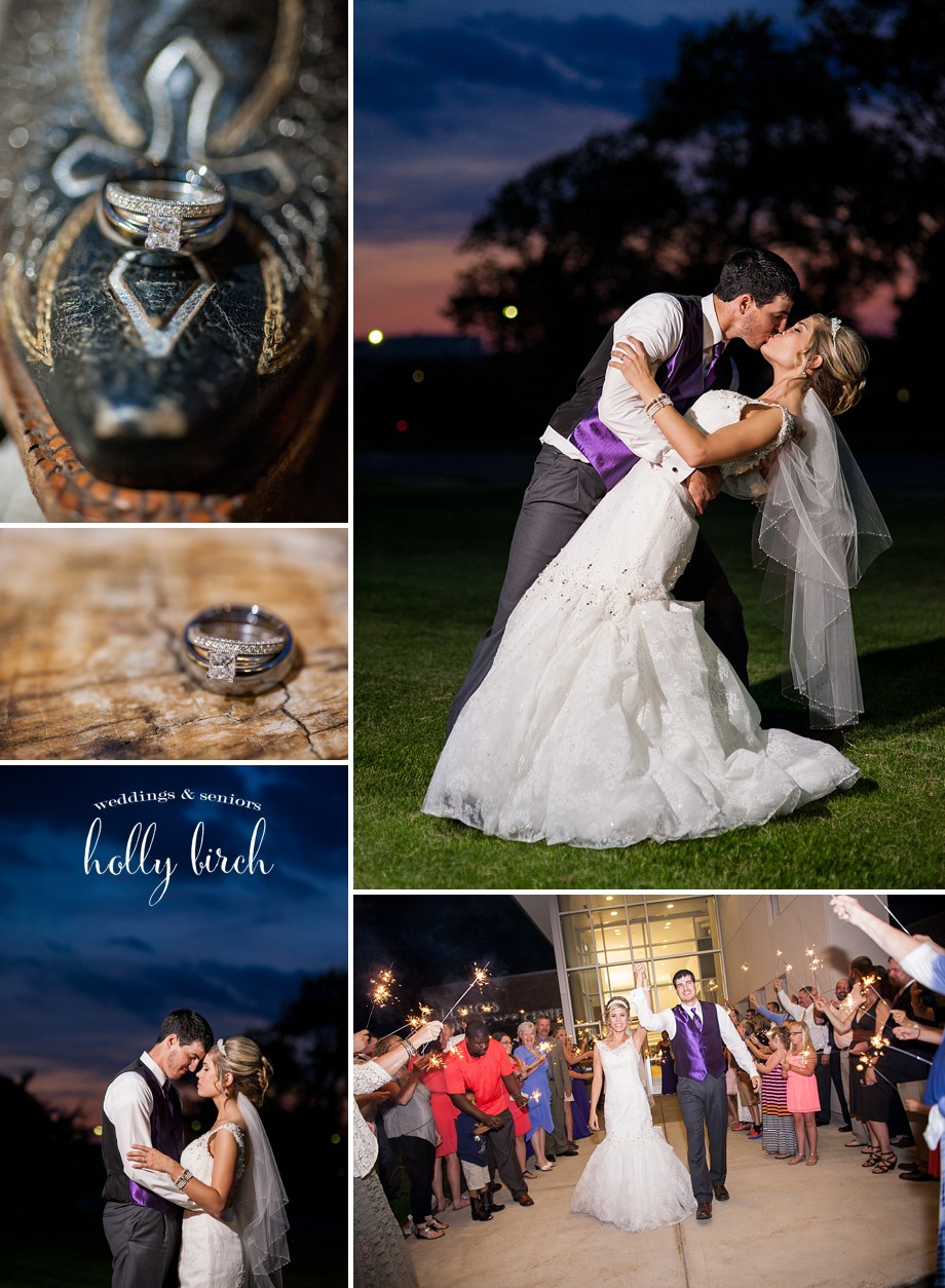 wedding rings dusk portraits