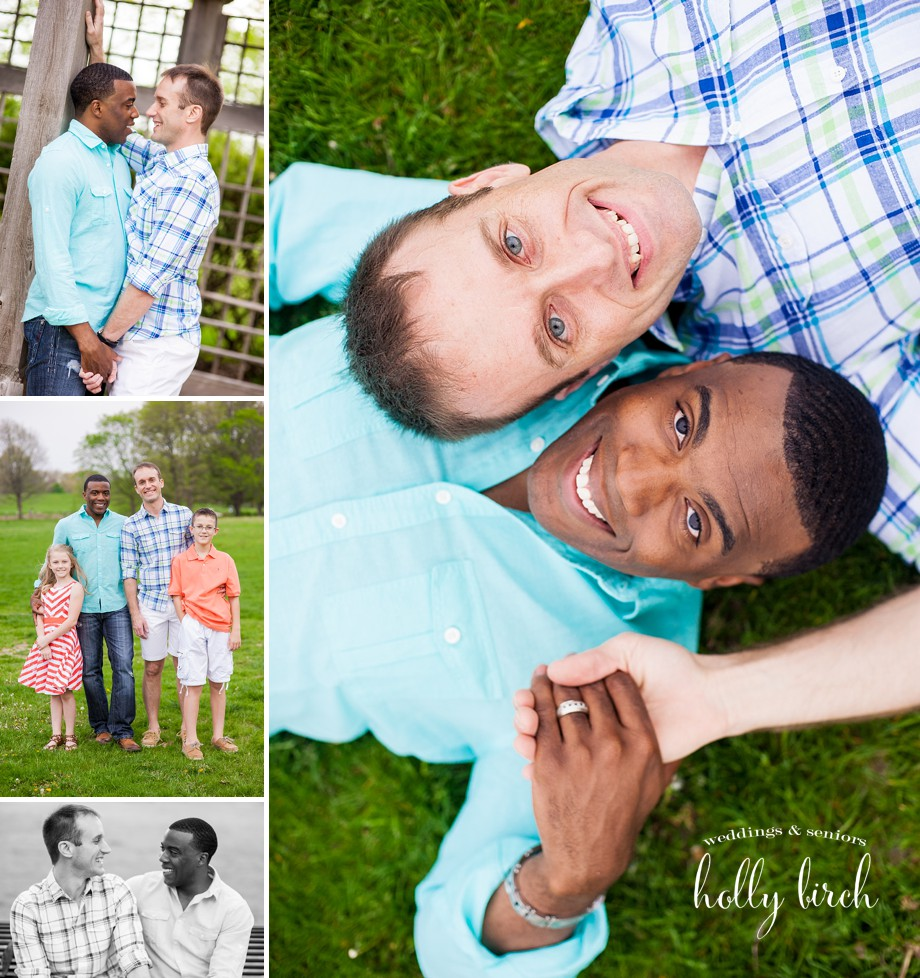 Urbana UI Arboretum same-sex engagement session gay-friendly photographer