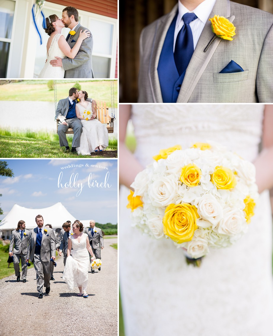 navy yellow wedding flowers details