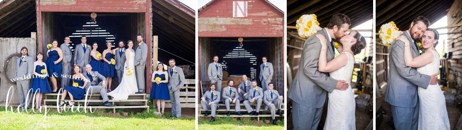gray navy wedding party