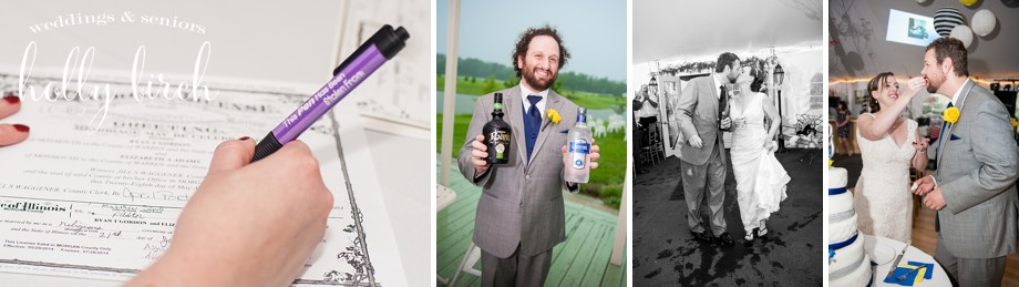 quirky wedding details