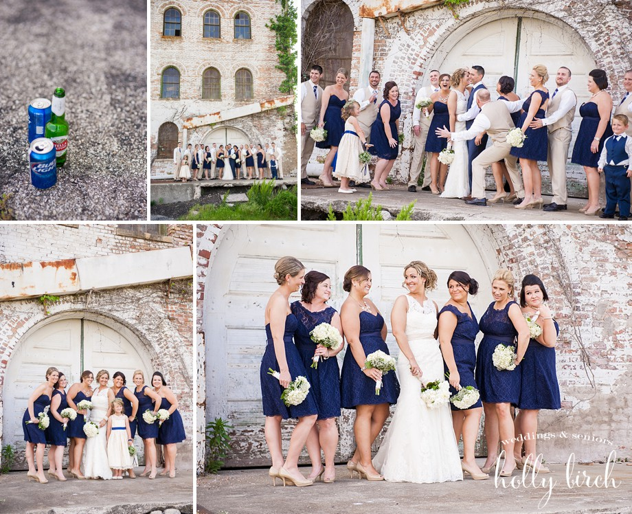 navy bridesmaids wedding party