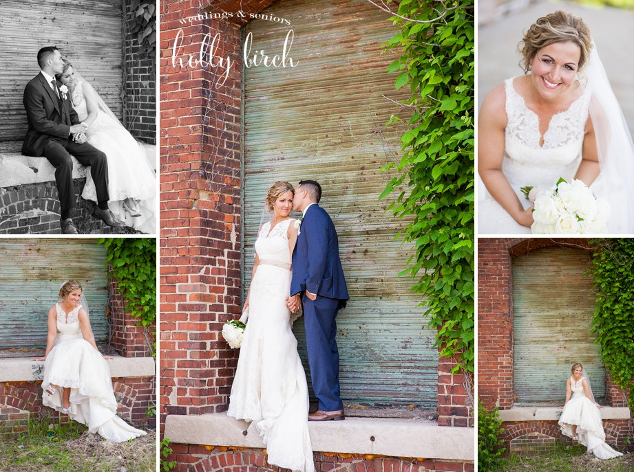 ivy brick walls wedding pictures