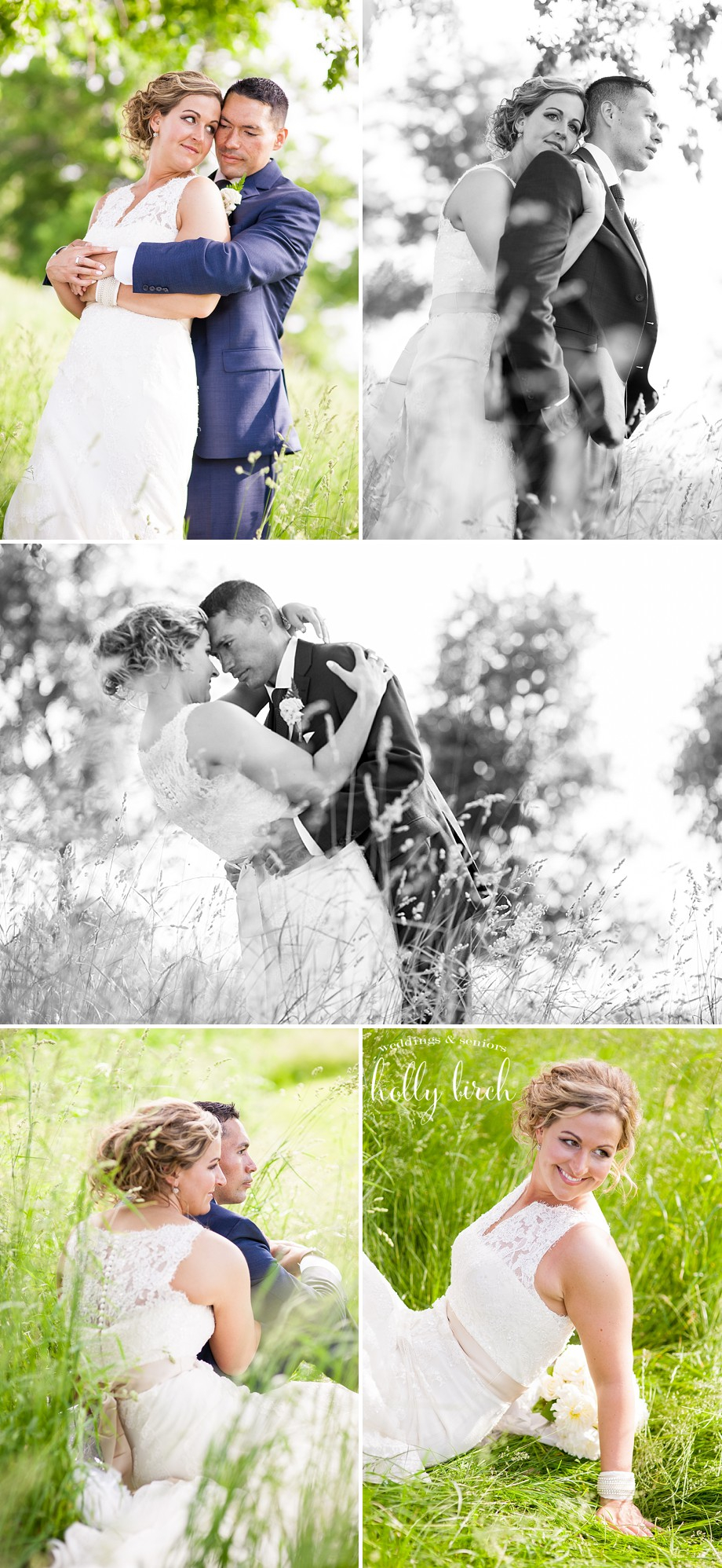 Bride groom tall grass Bridal