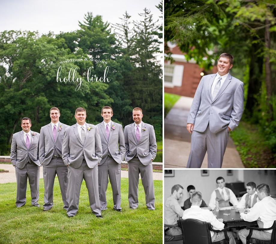 groomsmen gray suits
