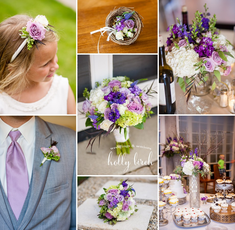 Illinois piatt county monticello - Purple Wedding Flowers Ba Da Bloom Florist