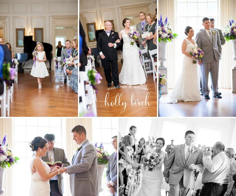 Allerton mansion wedding ceremony