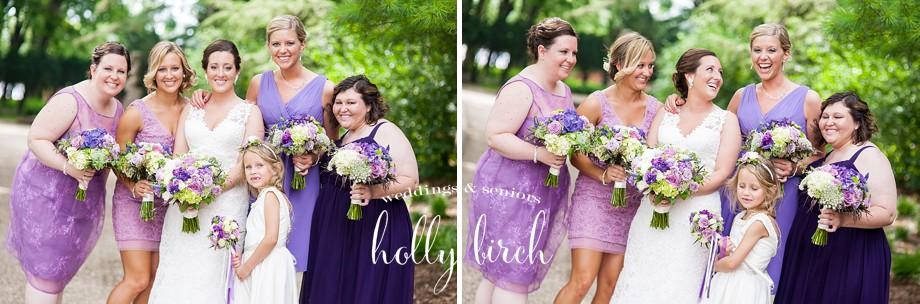 purple bridesmaids different dresses