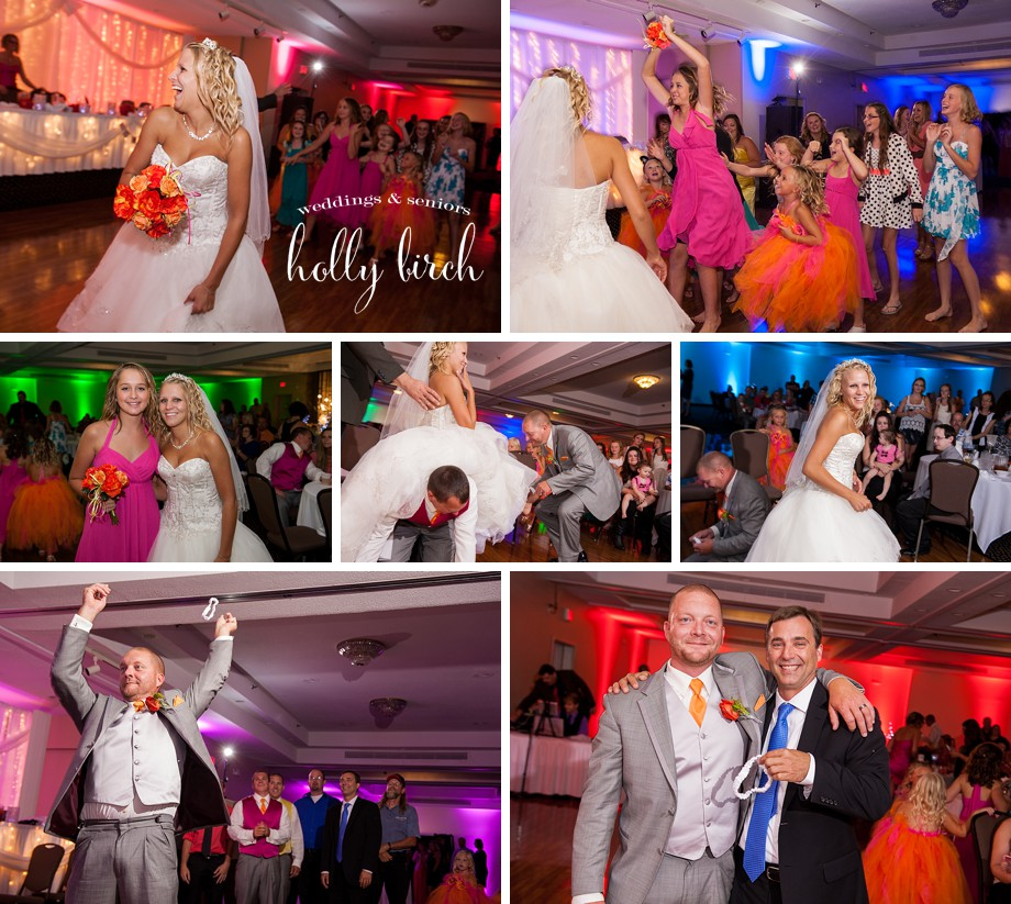 colorful LED light wedding reception