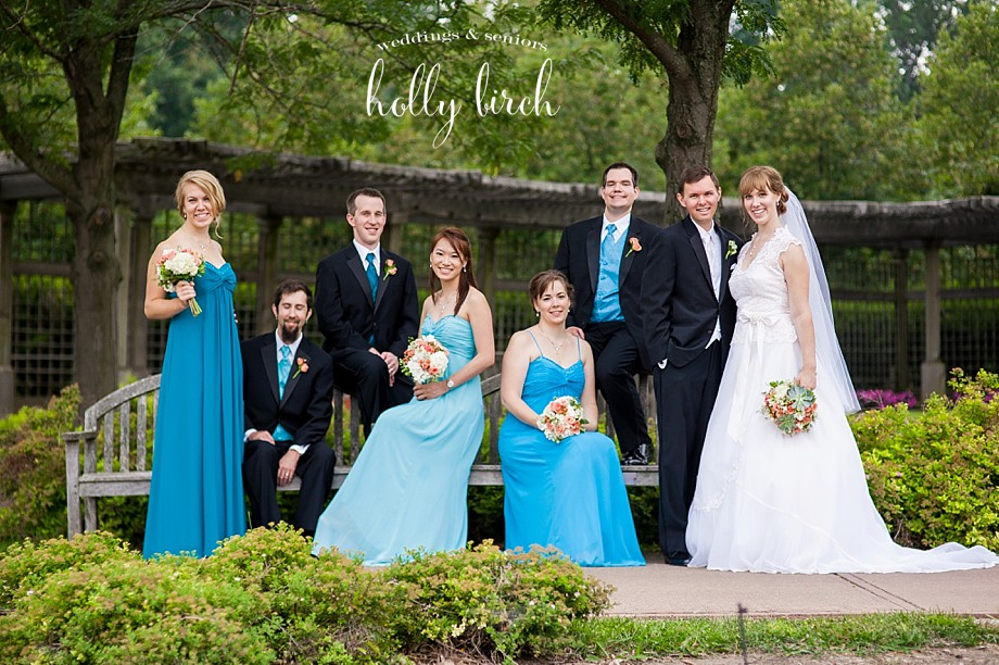 teal turquoise wedding party