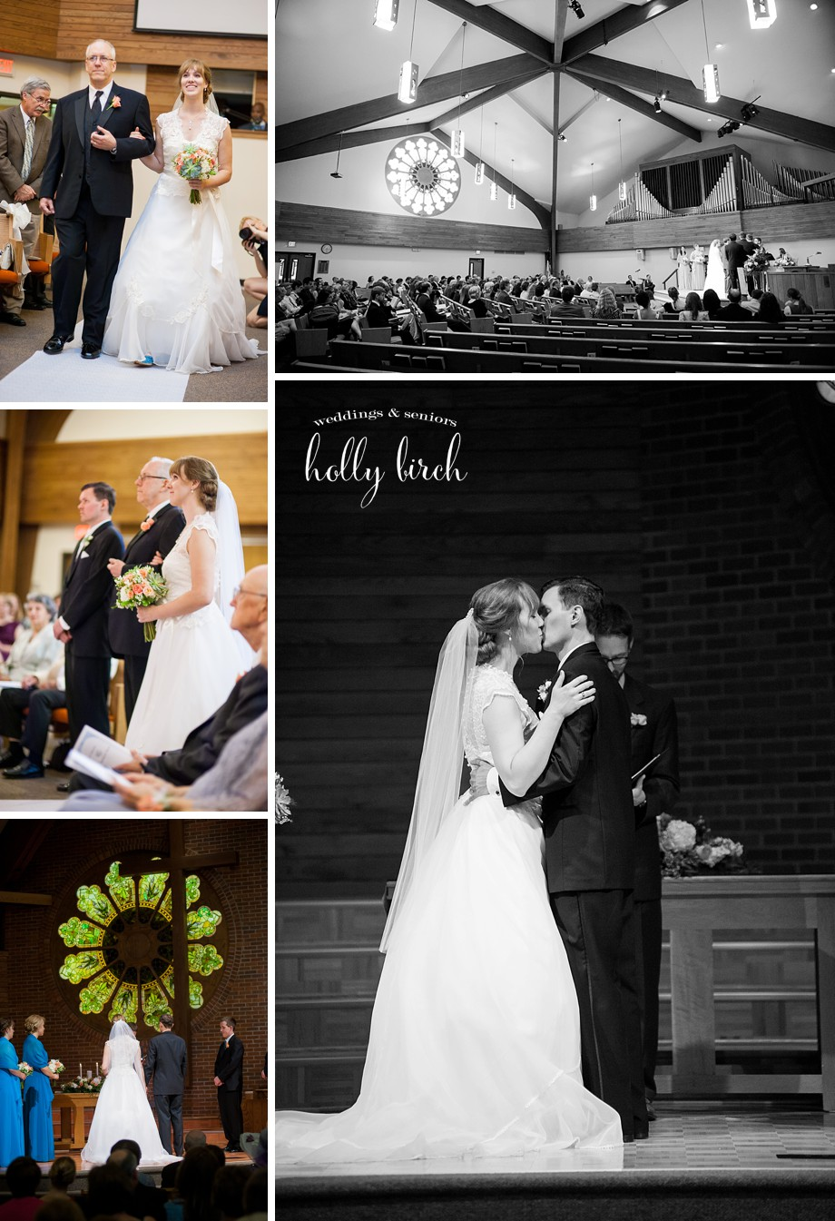 First Baptist Church of Champaign Savoy wedding ceremony