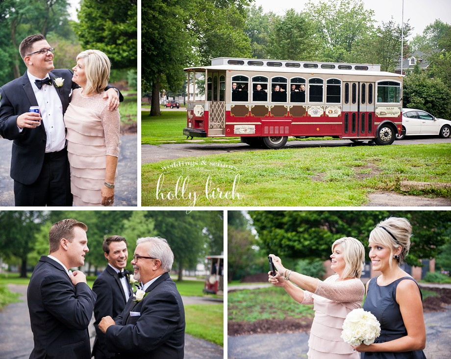 Elite trolley wedding candids