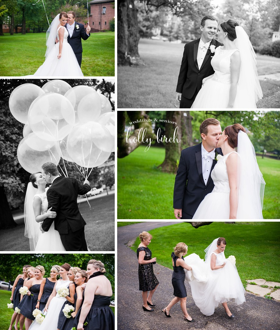 wedding couple balloon photos