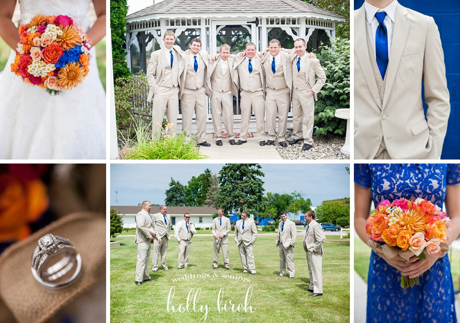 tan suit wedding party groomsmen