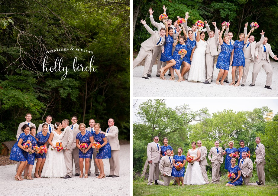 rural wedding party photos