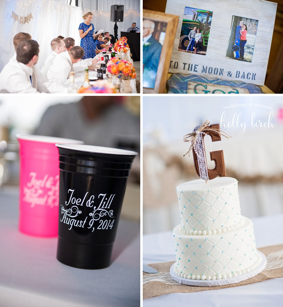 farm wedding reception details