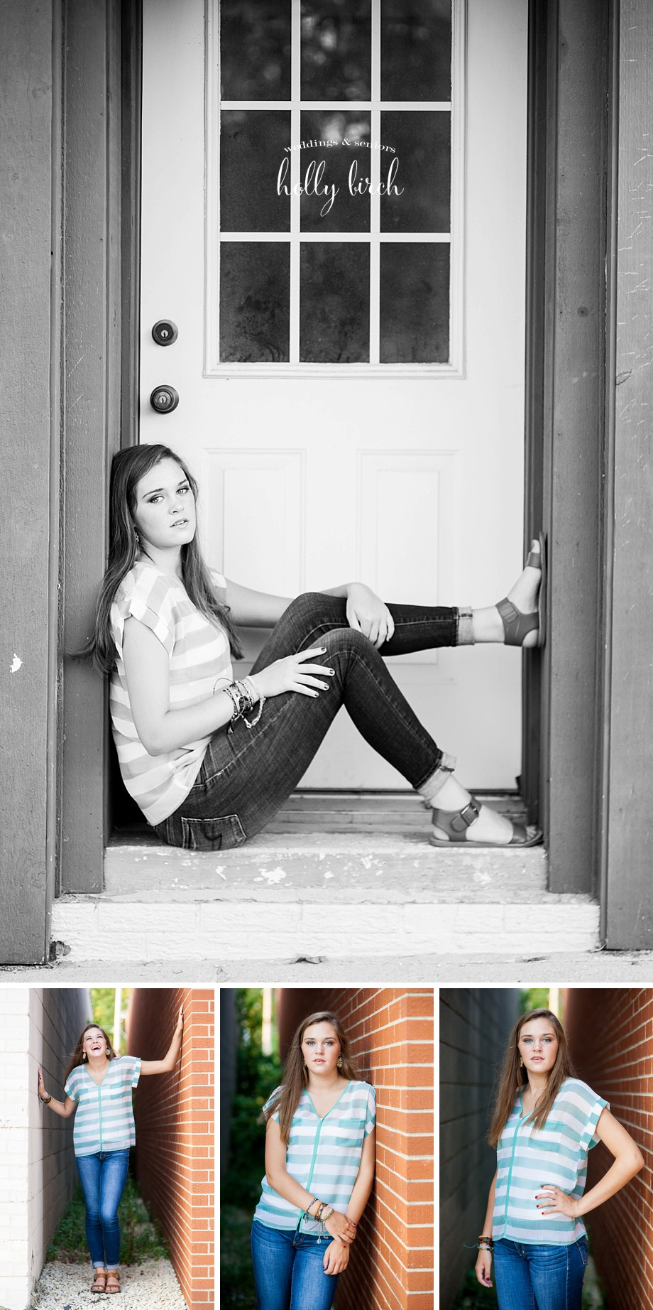 downtown Mahomet senior session