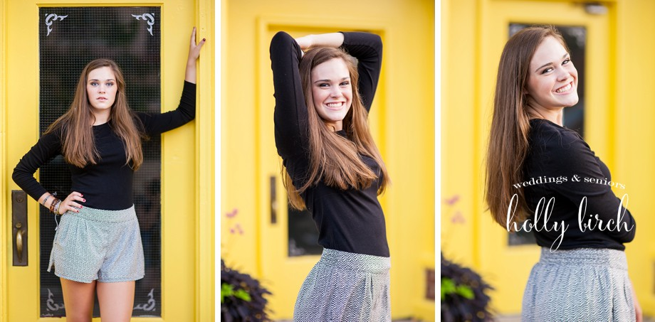 Paint Like Me yellow doors senior session