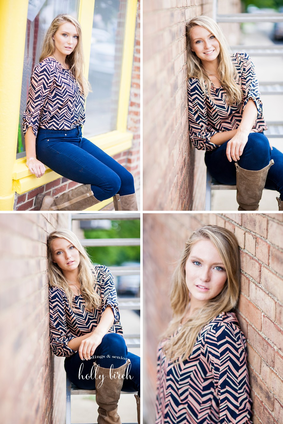 jeans tall boots senior session
