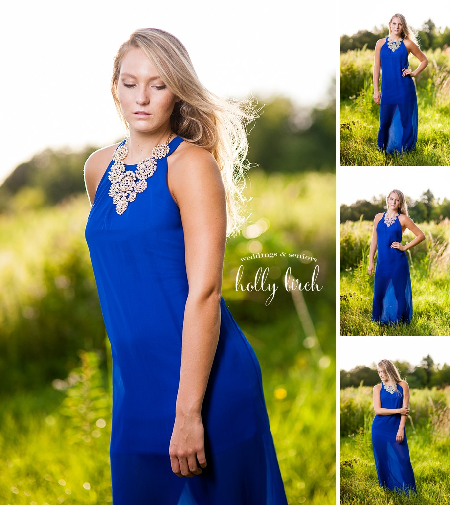 blue dress high-speed sync flash