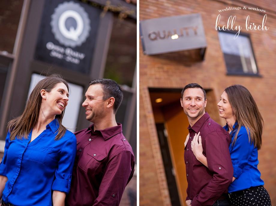 Quality bar engagement portrait