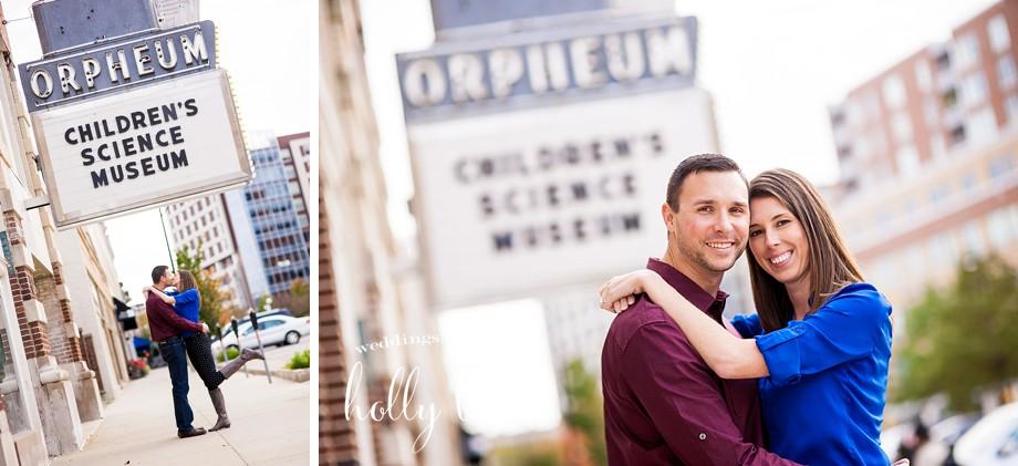 Orpheum Children's Museum engagement pictures