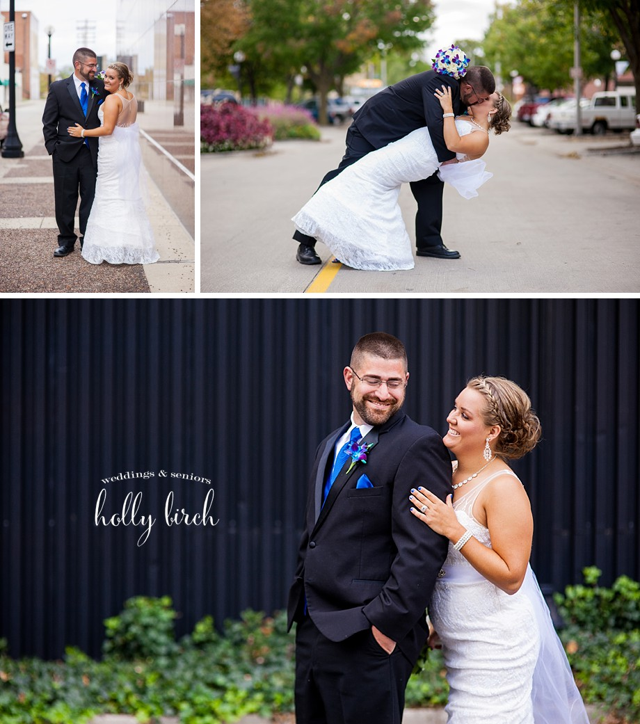 downtown Champaign wedding