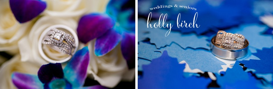 royal blue wedding details rings