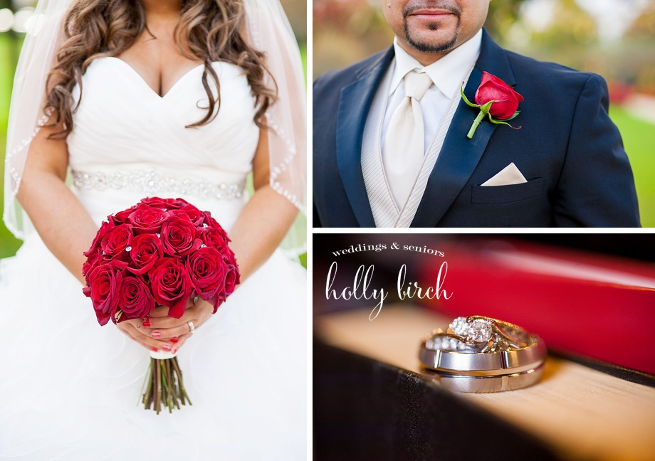 red and black wedding flowers rings