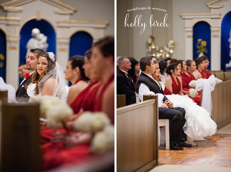 Holy Cross Catholic wedding ceremony